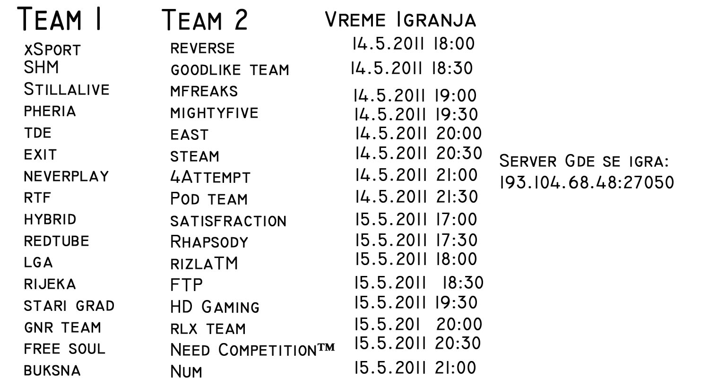 Valjevo Gaming online league 1304805637